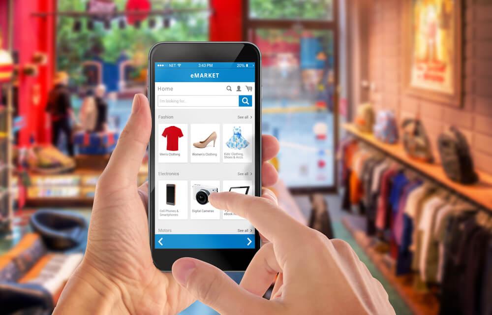 הדגמת נראות חנות וירטואלית על גבי פלאפון